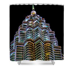 Petronas Tower Shower Curtain by Adrian Evans