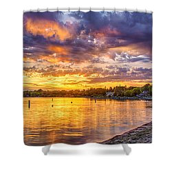 Pewaukee Orange Fury Shower Curtain