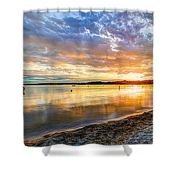 Pewaukee Vibrant Evening  Shower Curtain