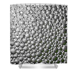 Shower Curtain featuring the photograph Pewter Rain by Chris Fraser
