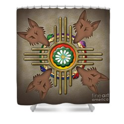 Peyote Coyote Shower Curtain by Timothy Lowry