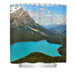 Peyto Lake Shower Curtain by Lisa Phillips