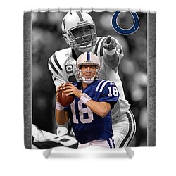 Peyton Manning Colts Shower Curtain