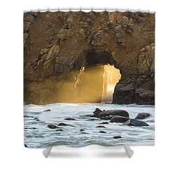 Pfeiffer At Sunset Shower Curtain by Suzanne Luft