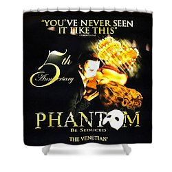 Phantom At The Venetian Shower Curtain by Natalie Ortiz