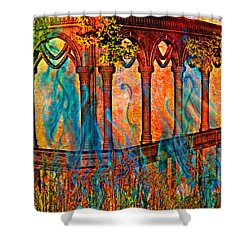 Phantom Fires Shower Curtain by Ally  White