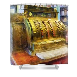 Pharmacist - Cash Register In Pharmacy Shower Curtain by Susan Savad