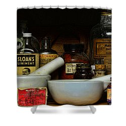 Pharmacist - Cod Liver Oil And More Shower Curtain by Paul Ward