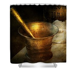 Pharmacist - The Pounder Shower Curtain by Mike Savad