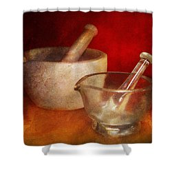Pharmacist - Very Important Tools  Shower Curtain by Mike Savad