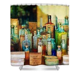 Pharmacist - Whatever Ails Ya - II Shower Curtain by Mike Savad