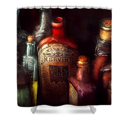 Pharmacy - A Safe Rheumatic Cure  Shower Curtain by Mike Savad