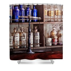 Pharmacy - Apothecarius  Shower Curtain by Mike Savad