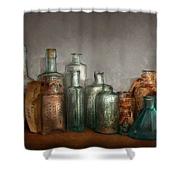 Pharmacy - Doctor I Need A Refill  Shower Curtain by Mike Savad