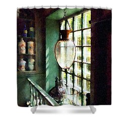 Pharmacy - Glass Mortar And Pestle On Windowsill Shower Curtain