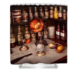 Pharmacy - Items From The Specialist Shower Curtain by Mike Savad