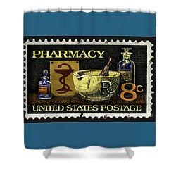 Pharmacy Stamp With Bowl Of Hygeia Shower Curtain