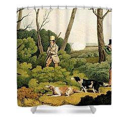 Pheasant Shootin Shower Curtain by Henry Thomas Alken