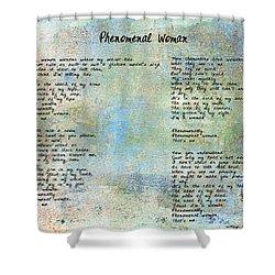 Phenomenal Woman - Blue Rustic Shower Curtain
