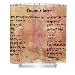 Phenomenal Woman - Red Rustic Shower Curtain