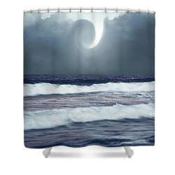 Phenomenon Above The Sea Shower Curtain