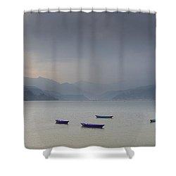 Phewa Lake In Pokhara Shower Curtain