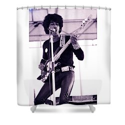 Phil Lynott Of Thin Lizzy Black Rose Star Effect Day On The Green 4th Of July 1979 - Unreleased No 3 Shower Curtain