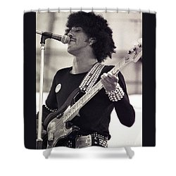 Phil Lynott Of Thin Lizzy Black Rose Tour At Day On The Green 4th Of July 1979 - Unreleased  Shower Curtain
