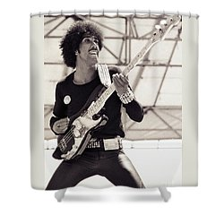 Phil Lynott Of Thin Lizzy Black Rose Tour At Day On The Green 4th Of July 1979 - Unreleased No 2 Shower Curtain
