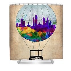 Philadelphia Air Balloon Shower Curtain