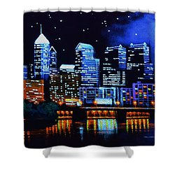 Philadelphia Black Light Shower Curtain