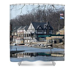 Philadelphia - Boat House Row Shower Curtain
