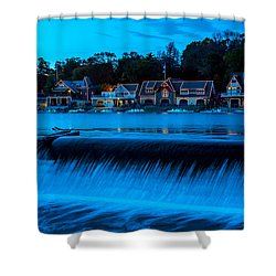 Philadelphia Boathouse Row At Sunset Shower Curtain
