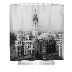 Philadelphia City Hall 1900 Shower Curtain by Bill Cannon