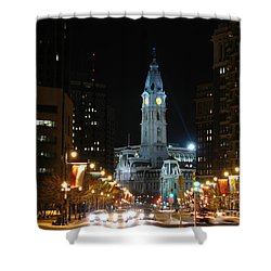 Shower Curtain featuring the photograph Philadelphia City Hall by Christopher Woods