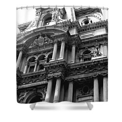 Philadelphia City Hall   Shower Curtain by Vickie G Buccini