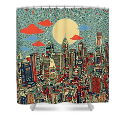 Philadelphia Dream 2 Shower Curtain by Bekim Art