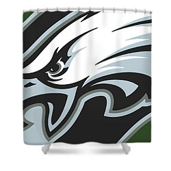 Philadelphia Eagles Football Shower Curtain by Tony Rubino