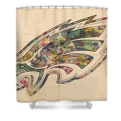 Philadelphia Eagles Poster Vintage Shower Curtain