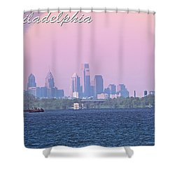 Philadelphia  Shower Curtain by Tom Gari Gallery-Three-Photography