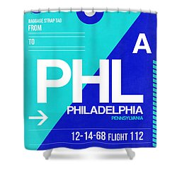 Philadelphia Luggage Poster 1 Shower Curtain