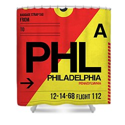 Philadelphia Luggage Poster 2 Shower Curtain