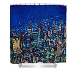 Philadelphia Panorama Pop Art 2 Shower Curtain
