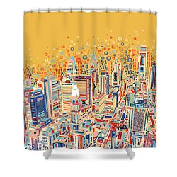 Philadelphia Panorama Pop Art Shower Curtain