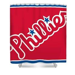 Philadelphia Phillies Baseball Shower Curtain