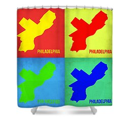 Philadelphia Pop Art Map 1 Shower Curtain