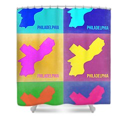 Philadelphia Pop Art Map 3 Shower Curtain
