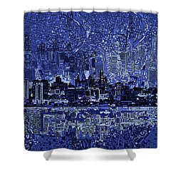 Philadelphia Skyline Abstract 2 Shower Curtain