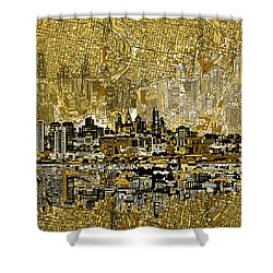 Philadelphia Skyline Abstract 3 Shower Curtain