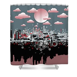 Philadelphia Skyline Abstract 6 Shower Curtain